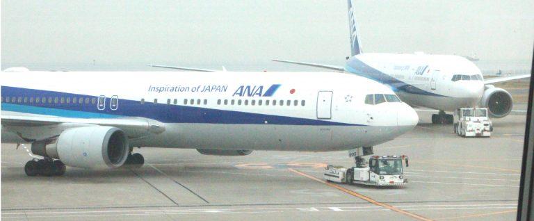 ANAの飛行機の写真です。