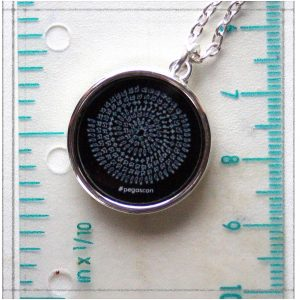 """Enyu Mandala"" A black pattern on white ground Silver Plated Necklace"